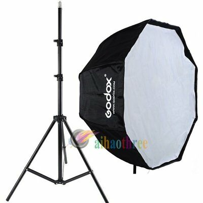 GODOX 120cm Octagon Umbrella Softbox + Light Stand For Studio Flash Light【AU】