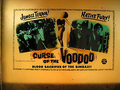 CURSE OF THE VOODOO 1965 Original cinema movie projector glass slide Rare horror