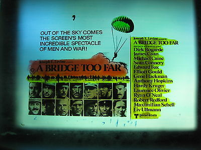 A BRIDGE TOO FAR 1977 Orig cinema movie projector glass slide Caine Sean Connery