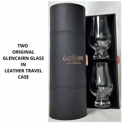 "New Glencairn Crystal Whisky Glass ""Original"" in Travel Case"