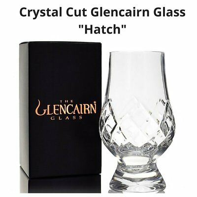 "New Glencairn Cut Crystal ""Hatch"" in Black Copper Box"