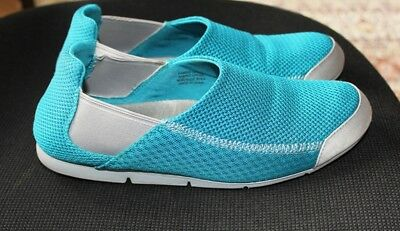 "Ladies Shoes/Casuals""Supersoft""by Diana Ferrari Teal & Grey Size 9C"