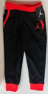 New Air Jordan Jumpman Nike Jogger Boy's Toddler Size 4T Blk/Infared Pants