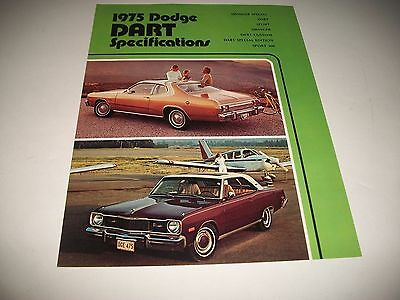 1975 Dodge Dart Cdn Issue Specifications & Options Brochure Swinger Sport 360