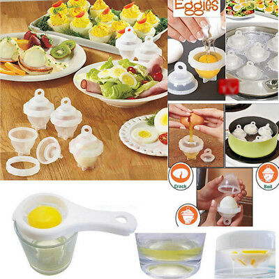 Egglettes 6 Pc. Perfect Hard-Boiled Egg Maker New Free Shipping !!