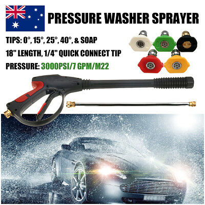 AU 3000 PSI M22 Spray Gun Wand/Lance & Tips Power Pressure Washer Water Pumps
