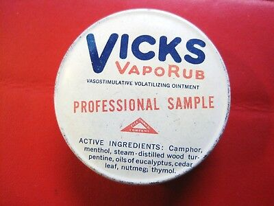 Old Vintage Advertising Vicks Medical Pharmacy Chemist Shop Salesman Sample Tin