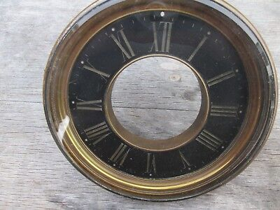 A French Mantel Clock Brass Bezel With Its Bevelled Glass And Slate Chapter Ring
