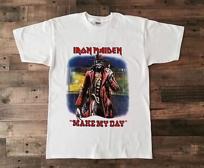 8ff1ce3ae41d2 GILDAN VTG IRON Maiden T-Shirt, Make my Day - Stranger in a Strange Land