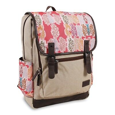 J World New York Women's Franklin Laptop Fashion Backpack, Pink Forest, One Size