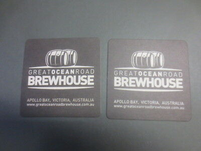 2 different GREAT OCEAN Road BREWHOUSE Victoria. collectable COASTERS