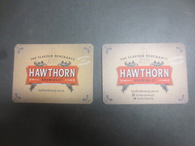 2 different HAWTHORN Brewing Co,,Victoria ,BEER Coasters