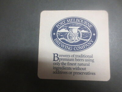 1 only PORT MELBOURNE Brewing Co Micro ,Victoria ,BEER Coaster