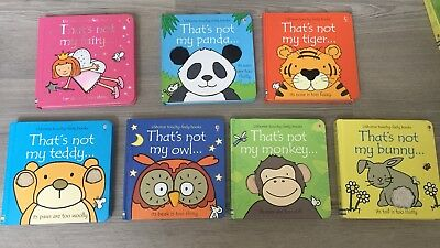 That's Not My Books Bundle Job Lot 7 x Owl Panda Fairy Tiger Monkey Bunny Teddy!