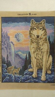 Wolves - Collection D'Art Tapestry Canvas 11432