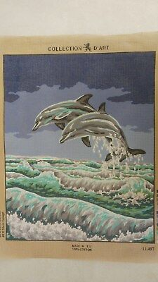 Dolphins - Collection D'Art Tapestry Canvas 11497