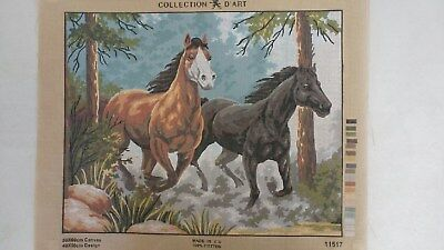 Wild Horses - Collection D'Art Tapestry Canvas 11517