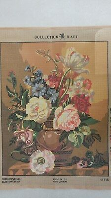 Vase of Flowers - Collection D'Art Tapestry Canvas 11518