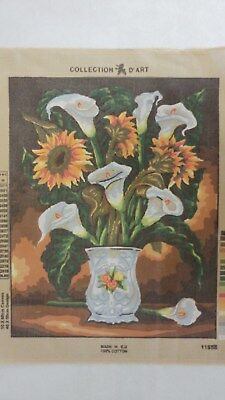 Vase of Lillies - Collection D'Art Tapestry Canvas 11558