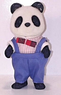 "Sylvanian Families Single ""Wilder"" Bamboo Father Panda Figure Overalls"