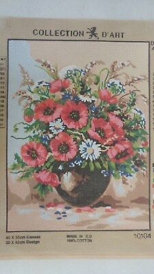 Vase of Flowers - Collection D'Art Tapestry Canvas 10104