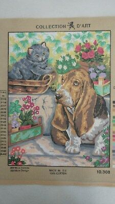 Dog & Cat - Collection D'Art Tapestry Canvas 10208