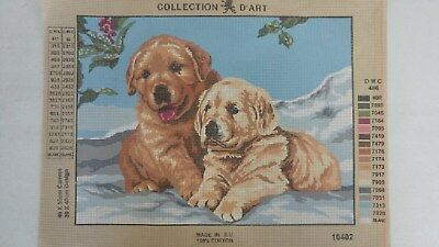 Puppies - Collection D'Art Tapestry Canvas 10402