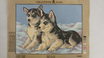 Puppies - Collection D'Art Tapestry Canvas 10403