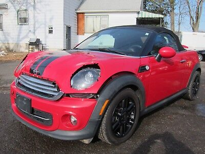 2012 Mini Roadster Roadster MINI ROADSTER 2012 RED 2-SEATER LOW MILEAGE! EASY DAMAGE!! REPAIRABLE SALVAGE
