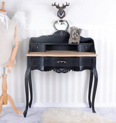 Sideboard Table Vintage Secretary Country House Style Console Black Antique
