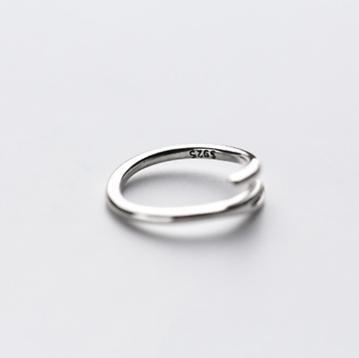 925 sterling silver ring handcraft one layer ring