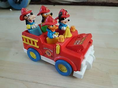 Vintage Disney Fire Truck Mickey Mouse Donald Duck Shapes Set People