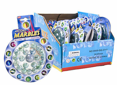 21pc High Quality Colour Glass Marbles Traditional Toys Classic Kids Games