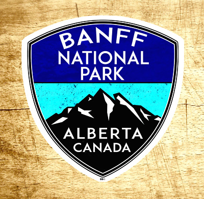 "Banff National Park Alberta Canada Sticker Decal 2 7/8"" x 3"""