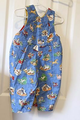 Hand Home Made Reversable Vintage Looking Bib Overalls Animals / Chef 18 mos