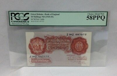 Bank Of England Great Britain 10 Shillings ND(1949-55) PCGS 58PPQ