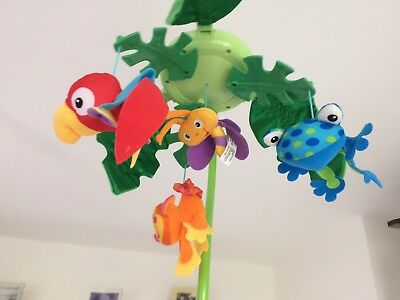 Fisher Price Peek-A-Boo Leaves Musical Rainforest Cot Mobile with remote