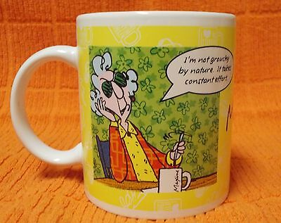 Maxine Hallmark Coffee Mug I'm Not Grouchy & Breakfast in Bed 1814P1 Mug/Cup