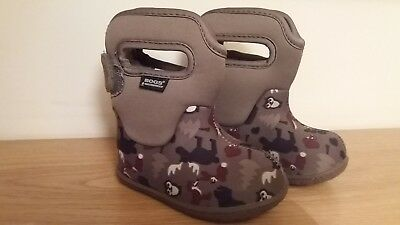 BOGS Toddler Machine Washable Wellingtons Baby Woodland Size EUR 20 US 4 - Used