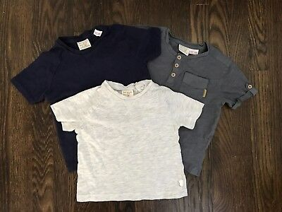 Zara baby boy lot of 3  t-shirts mixed color/sizes 3/6, 9/12 &  12/18 months