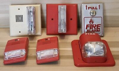 (Lot of 6) Fire Alarm Parts EST/Gentex/System Sensor/Notifier + KEY