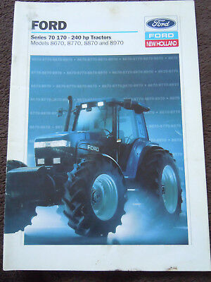 @Vintage Ford Series 70 Tractor Brochure 8670 8770 8870 8970 @