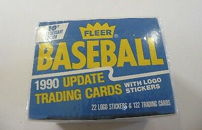 1990 Fleer Baseball Update Cards & Logo Stickers - 10th Anniversary Edition