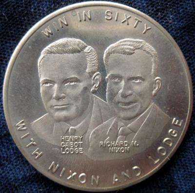 Richard M Nixon Cabot  election of 1960 campaign medal elephant #80