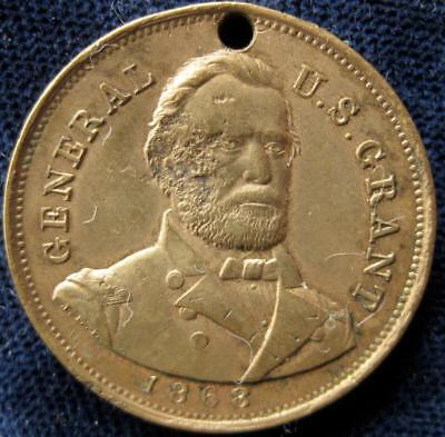 U.S Grant 1868 I propose to fit it out the line If it takes all summer medal  47