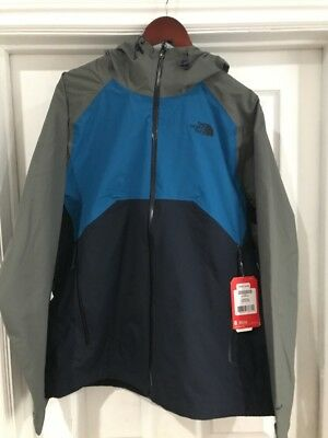 The North Face Men's Stratos Jacket Navy, Blue, & Gray -New with Tags-LARGE