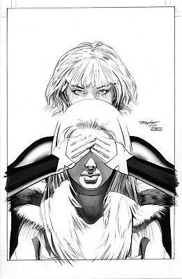 Mike Mayhew Original JEAN GREY #8 Venticular Variant Cover B&W Art One of a Kind