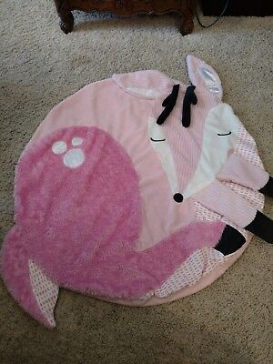 Manhattan Toy Travel + Comfort Tactile Deer Play Baby Infant Mat Soft Pink NEW