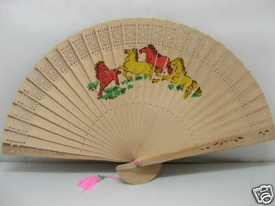 20 New Scented Wooden Folding Fans Mixed