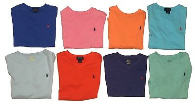 Ralph Lauren Polo Boys Crew Neck & V-Neck 100% Cotton T-Shirts - Size 5 6 7 NWT